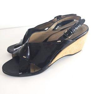 Anyi Lu Sandal Luisa Comfort Wedge Size 41 10.5 11